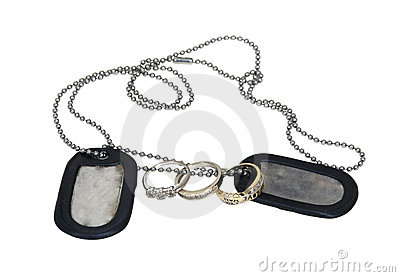 Military Dog Tags and Wedding Ring