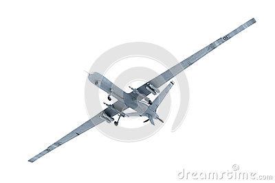 Military Drone in the air