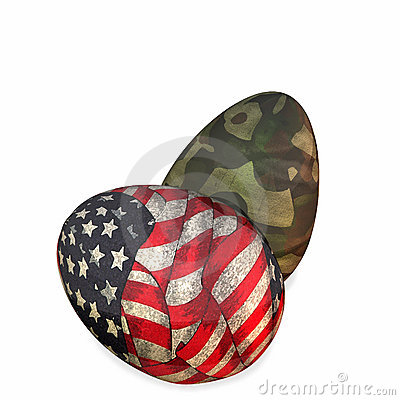 Military Easter Eggs Royalty Free Stock Photography