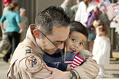 Military Family Deployment Reunion Stock Image - Image: 16541021