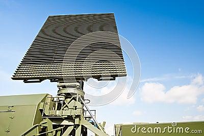 Military green antenna on transmitter