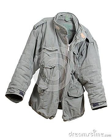 Military green jacket