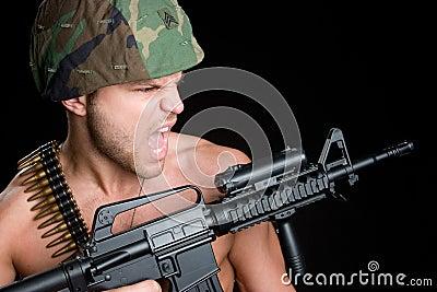 Military Gun Man