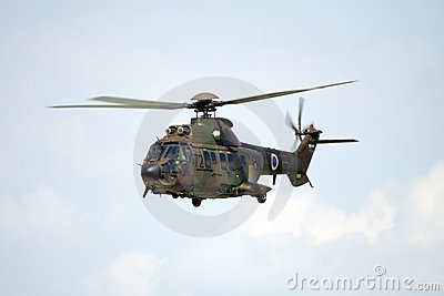 Military helicopter Cougar