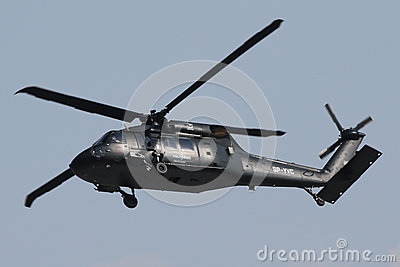 Military helicopter Sikorsky Blackhawk S-70i Editorial Photography