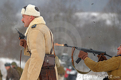 Military historical reconstruction of World War II Editorial Image