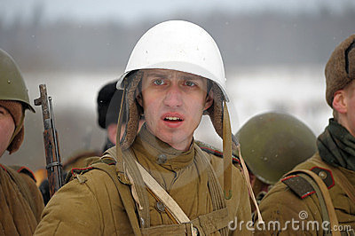 Military historical reconstruction of World War II Editorial Photo