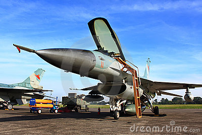 military jet fighter Editorial Photo