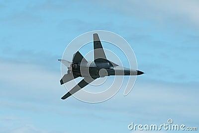 Military jet in flight