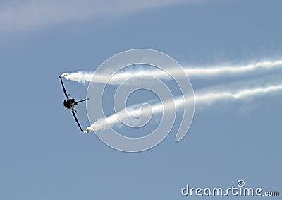 Military jet maneuvering