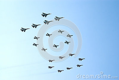 Military jets form number 100 Editorial Image