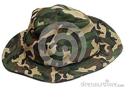 Military khaki hat