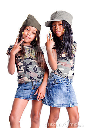 Free Military Kids For Peace Royalty Free Stock Photography - 6151377