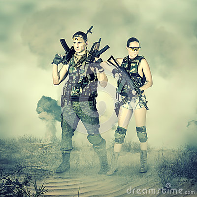 Free Military Man And Woman Stock Images - 38818764