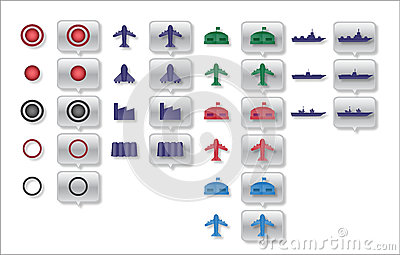 Military map icons