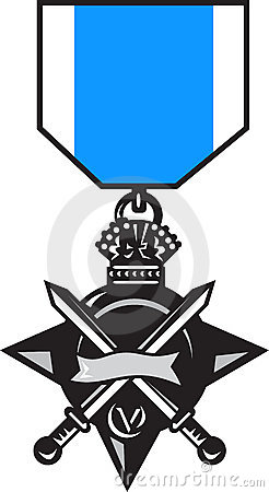 Military medal of bravery