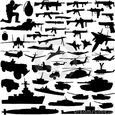 Free Military Objects Vector Royalty Free Stock Photo - 3600665