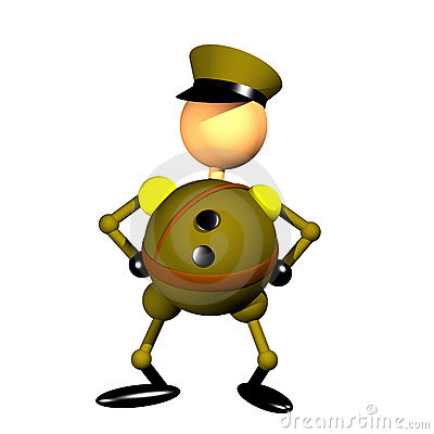 Military officer clipart