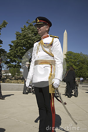 Military officer in full dress uniform Editorial Stock Image