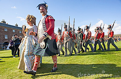 A military Officer and his wife . Editorial Stock Image