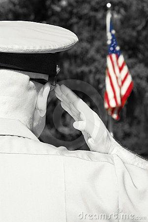Free Military Officer Saluting Flag Stock Photos - 9585463