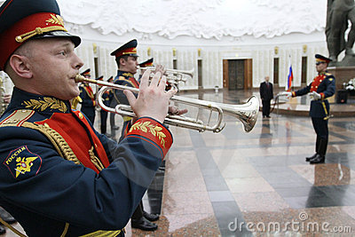 Military orchestra Editorial Stock Image