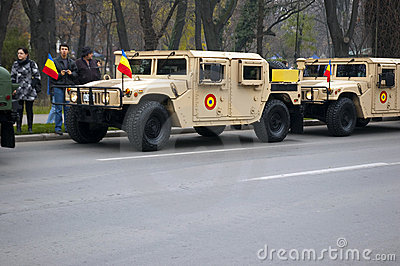 Military parade Editorial Stock Image