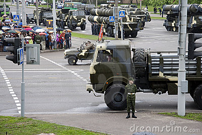 Military parade. Editorial Photo