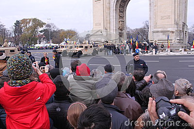 Military parade Editorial Stock Photo