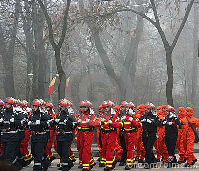 Military parade - firemen Editorial Photography