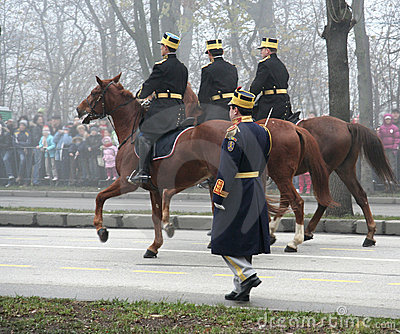 Military parade- horsemen Editorial Photo