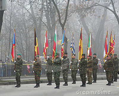Military parade- Infantry Editorial Stock Image