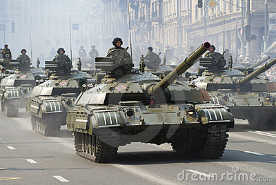 Military parade in Kiev Editorial Photography