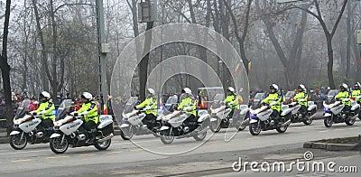Military parade - policemen Editorial Image