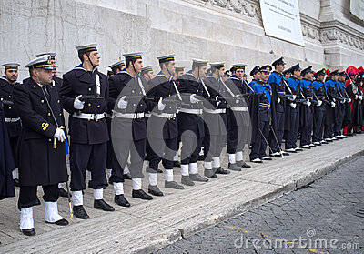 Military parade in Rome Editorial Image