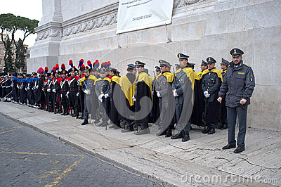 Military parade in Rome Editorial Stock Image