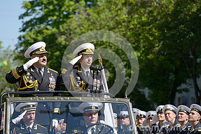 Military parade in Sevastopol, Ukraine Editorial Photography