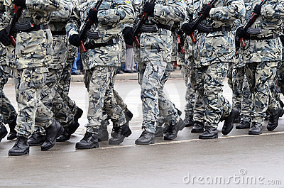 Military parade in Varna Editorial Stock Image