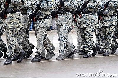 Military parade in Varna Editorial Stock Image