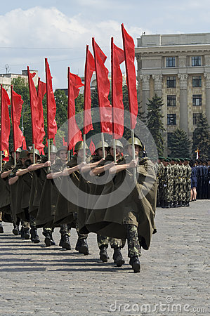 Military Parade of Victory Day Editorial Stock Photo