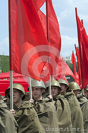 Military Parade of Victory Day Editorial Stock Image