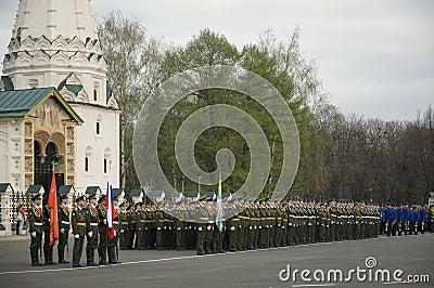 Military Parade in Yaroslavl. Russia Editorial Image