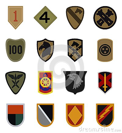 Free Military Patches Vector Stock Images - 58602404