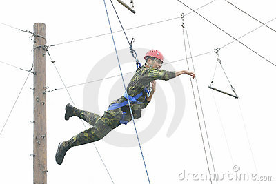 Military  physical training Editorial Stock Image