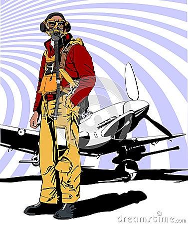 Military pilot WW 2