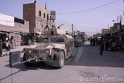Military Police Patrol in Iraq Editorial Stock Photo