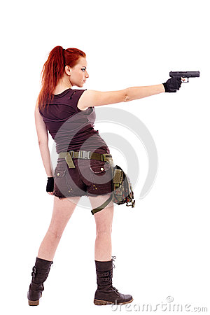 Free Military Redhead Beautiful Young Lady Royalty Free Stock Images - 36665669