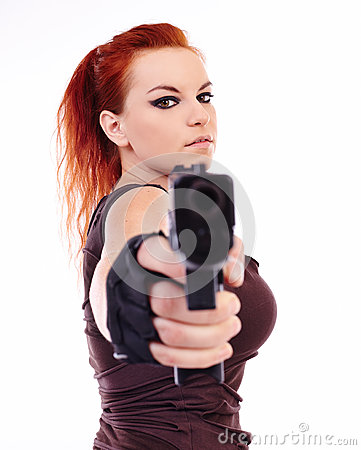 Free Military Redhead Beautiful Young Lady Stock Image - 36665771