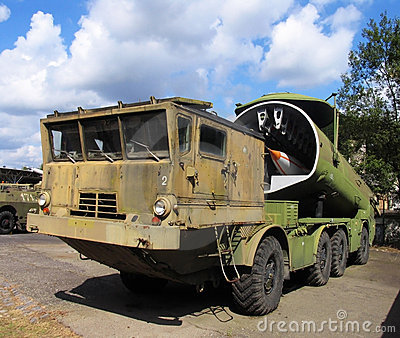 Military rocket gun vehicle