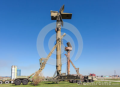 Military russian 76N6 Clam Shell Low Altitude Acquisition Radar Editorial Stock Image